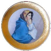 Тарелка декоративная 33см (золотая кайма)