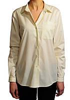 Блуза женская классическая с кокеткой.Молочная.