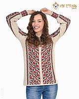 Женская рубашка вязаная Роза лесенка, фото 1