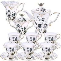 Сервиз чайный 15 частей (фарфор)