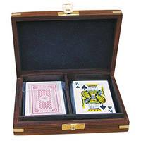 Коробка с картами, дерево/латунь Sea Club 15,5x11,5х4см