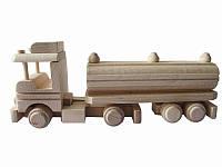 Игрушка деревянная Бензовоз