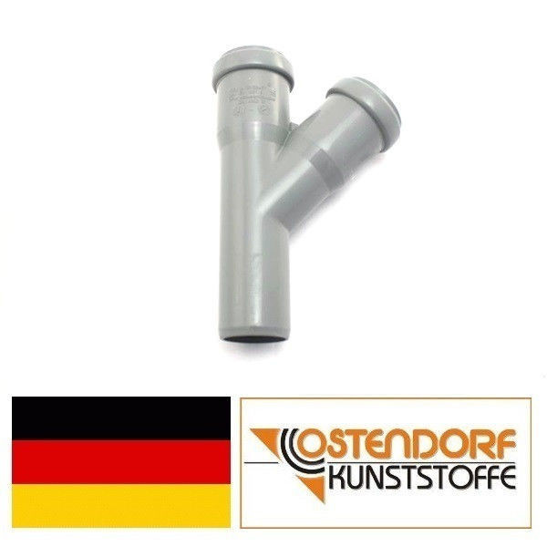 OSTENDORF (Германия), тройник HTEA 40х40х67, для внутренней канализации