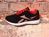 Женские кроссовки чёрные с красным Dual удобные красивые модные M023