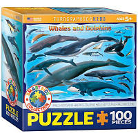 Пазл Киты и дельфины, 100 элементов, EuroGraphics