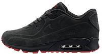 Мужские кроссовки Nike Air Max 90 VT Tweed (Найк Аир Макс) серые/красные