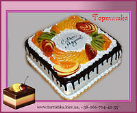 Торт с фруктами на день рождения