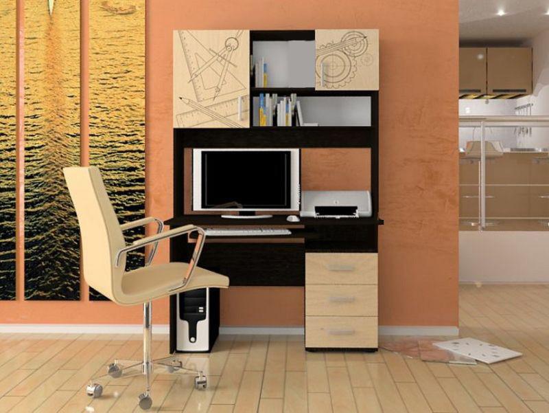 Удобный однотумбовый компьютерный стол Пиксель - ЧП Бурмус в Полтаве