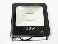 Светодиодный прожектор LED 30W Slim премиум SMD (черный)