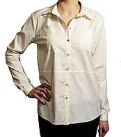Блуза женская классическая с карманами.Молочная.