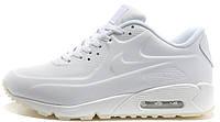 Мужские кроссовки Nike Air Max 90 VT Tweed (Найк Аир Макс) кожаные белые