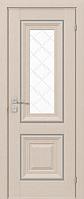 """Дверное полотно """"Esmi"""" grand molding, со стеклом, с гравировкой"""
