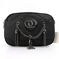 Клатч-сумочка женская кожзам черная 835-1-1, фото 1