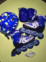 Ролики,роликовые коньки,в наборе,с,защитой,и,шлемом,безшумные