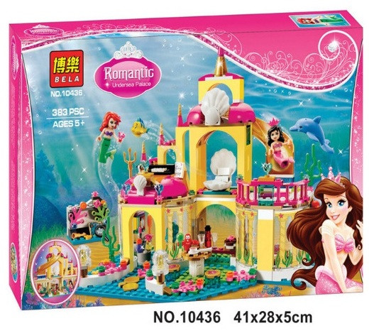 Конструктор Bela 10436 Принцессы Подводный замок Ариэль (аналог Lego Disney Princess 41063)