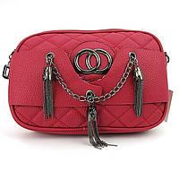 Клатч-сумочка женская кожзам красная 835