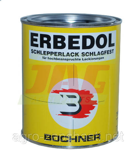 Краска Erbedol Strautmann красная 0,75l от года 1994