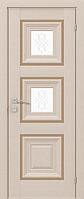 """Дверное полотно """"Irida"""" grand  molding, с 2 стеклами, с гравировкой"""
