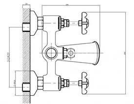 Imprese Cuthna stribro двухвентильный смеситель для ванны, хром, фото 2