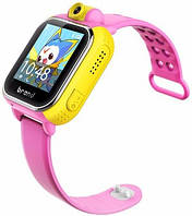 Детские умные часы Q200 (TW6) GPS с камерой + WiFi, розовые