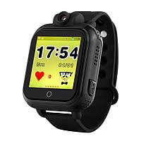Детские умные часы Q200 Black (TW6) GPS с камерой + WiFi, черные, фото 1