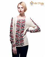 Женская рубашка вязаная Ромашка красная, фото 1