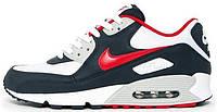 Мужские кроссовки Nike Air Max 90 (Найк Аир Макс) черные/белые