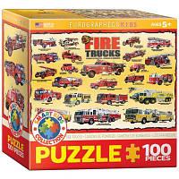 Пазл История пожарных машин, 100 элементов, EuroGraphics
