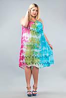 Платье свободное (ламбада) малиновое, салатовое, голубое, до 58-го размера