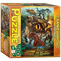 Пазл Хищные динозавры, 100 элементов, EuroGraphics