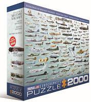 Пазл Развитие военное авиации, 2000 элементов, EuroGraphics