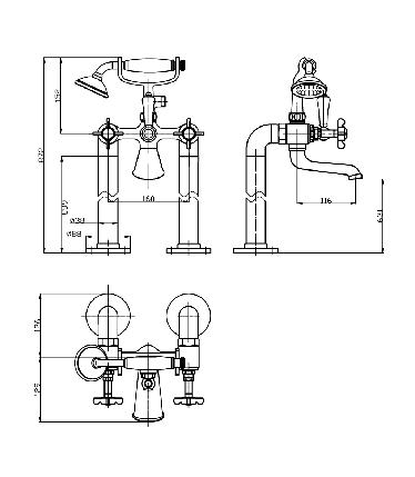 Imprese Cuthna stribro смеситель для ванны напольный, фото 2