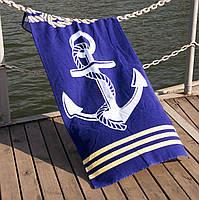 Полотенце пляжное велюр 75х150 Deep Sea Lotus