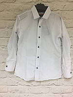 Рубашка на кнопке для мальчиков 7-12 лет