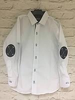 Рубашка с налокотниками на кнопке для мальчиков 7-12 лет