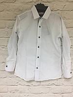 Рубашка белая на кнопке для мальчиков 2-7 лет