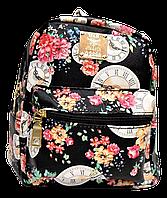 Маленький женский рюкзак H&H черного цвета с часами GWO-000307
