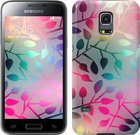 "Чехол на Samsung Galaxy S5 mini G800H Листья ""2235u-44"""