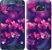"Чехол на Samsung Galaxy S6 Edge Plus G928 Пурпурные цветы ""2719u-189"""