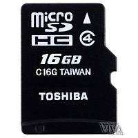 Карта памяти microSD Toshiba 16 GB class 4 M102 + Adapter
