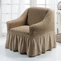 Чехол для кресла Хлопок 40% Arya Burumcuk оригинал Кофе с Молоком