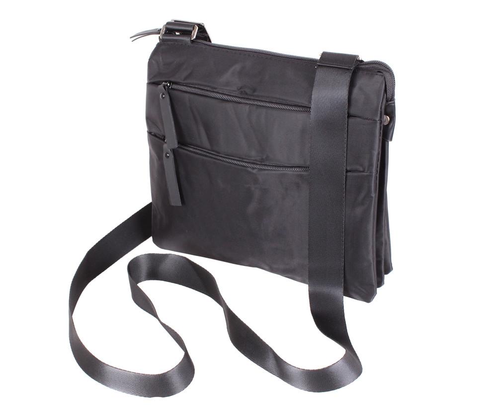 e133bc12551a Мужская тканевая сумка через плечо черная купить в Киеве с доставкой ...