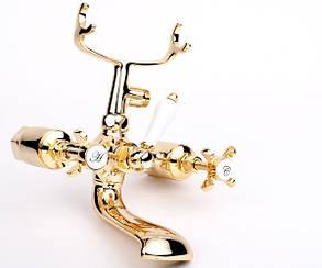 Imprese Cuthna zlato двухвентильный смеситель для ванны, золото, фото 2