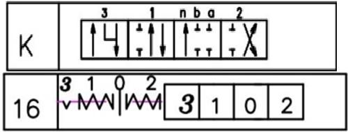Схема гидрораспределител с плавающим положением и автовозвратом