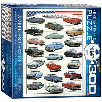 Пазл Американские автомобили 1950х, 300 элементов, EuroGraphics