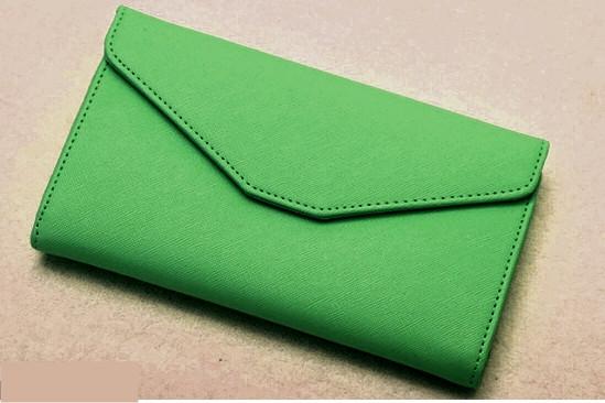 Кошелек Клатч  на кнопке Зеленый