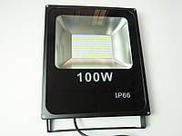 Светодиодный прожектор LED 100W Slim премиум SMD черный