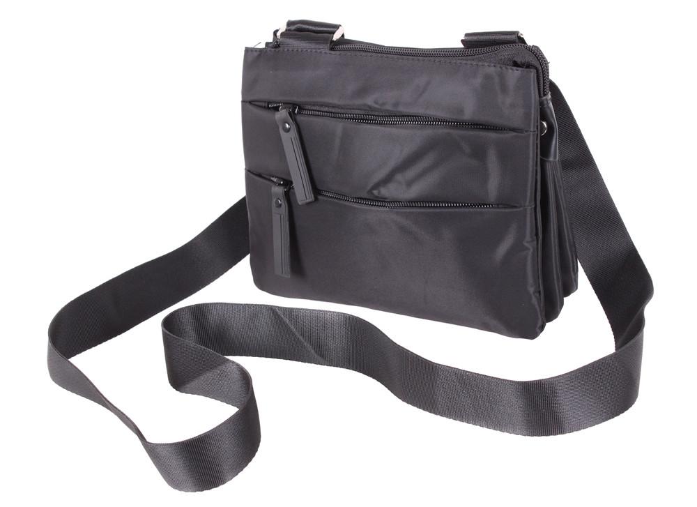 f022cfa4f371 Мужская тканевая сумка через плечо черная, цена 440 грн., купить в ...
