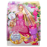 Кукла Barbie Барби серии Королевские косы,Barbie Endless Hair Kingdom Snap 'n Style Princess Doll