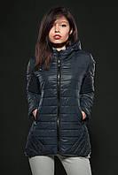 Молодежная женская демисезонная куртка. Цвет синий. Код модели К-73-12-16.